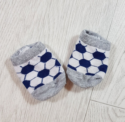 🌨Baby Grey blue and white football socks size 0