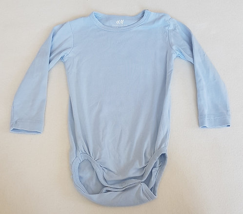 H&M. Blue long sleeve vest top. Size 12-18 months. Keep away from fire.