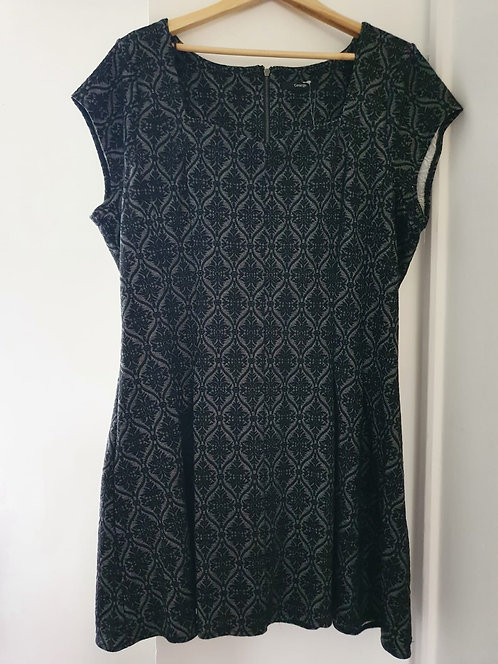 ♡George black/grey dress. Size 24 NWT