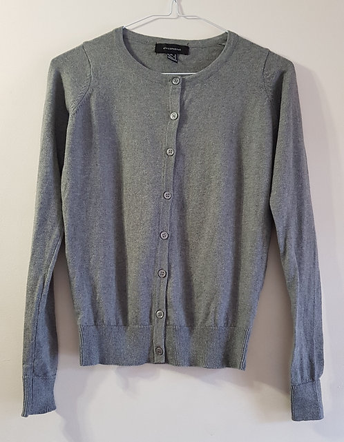 Atmosphere grey thin knit cardigan size 6 NWOT