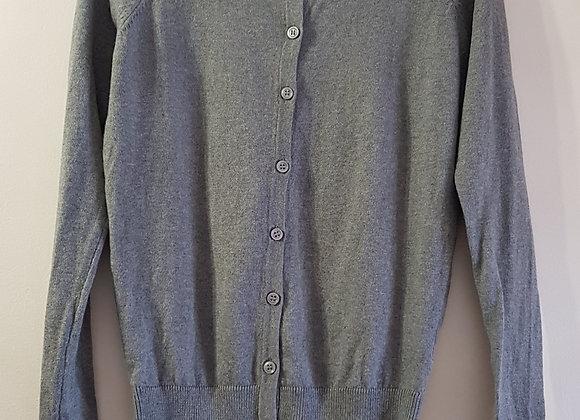 Atmosphere grey thin knit cardigan size 6 NWOT