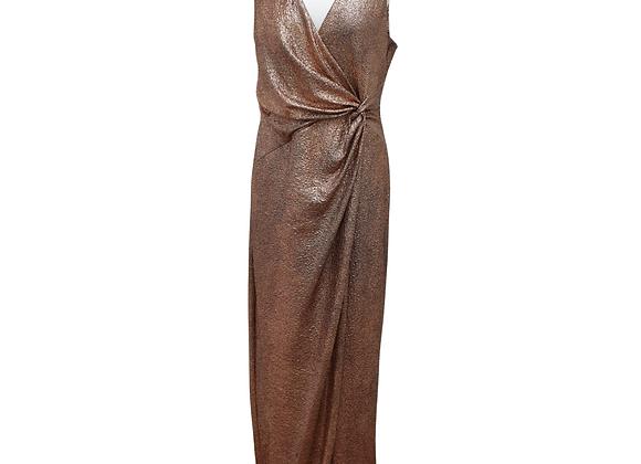 Debut rose gold mix dress. Uk 18