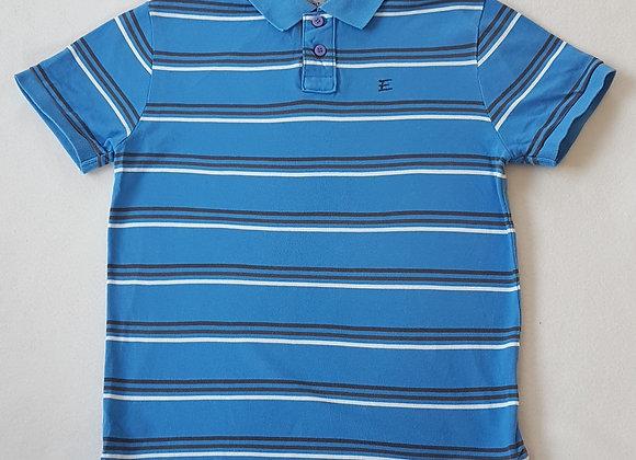 ESPRIT. Blue striped polo shirt.
