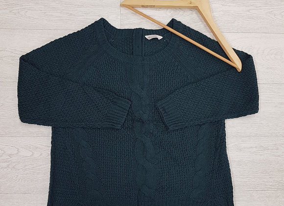 🍁BHS ivy green chunky knit sweater size 16