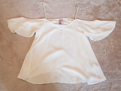 ASOS White lightweight shoulderless top. Size 8