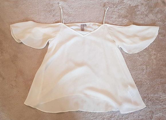 ASOS White lightweight shoulderless top. Size 8