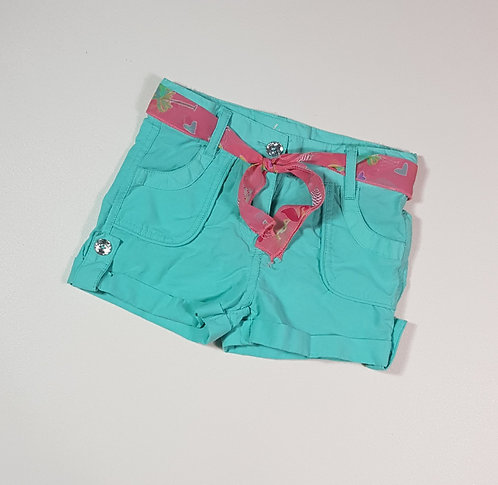 Young Dimension turquoise shorts with pink belt. 1½-2yrs