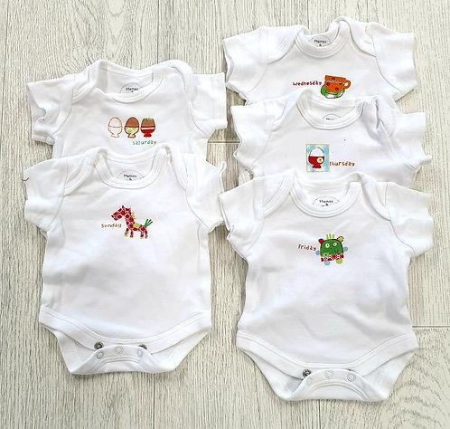 🧸 Mamas & Papas set of 5 vests. Petite Newborn