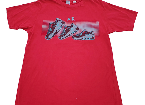 Air red trainer print t-shirt. Size S