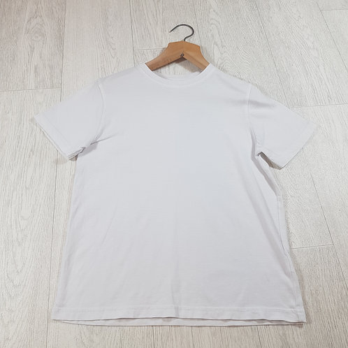 🌈George plain white t-shirt size 9-10yrs