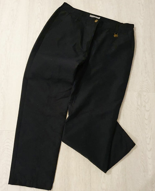 ⚫Daily navy thick lined trousers. Size 14