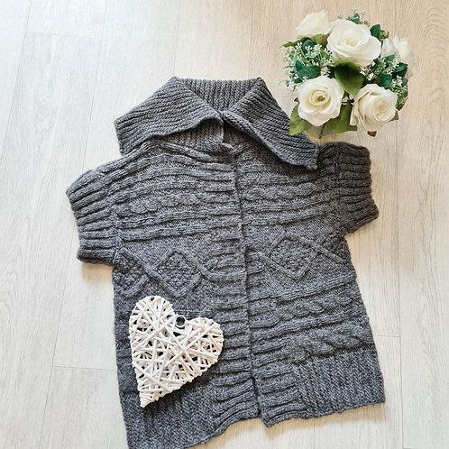 🍁Next thick grey knit cardigan. Size S