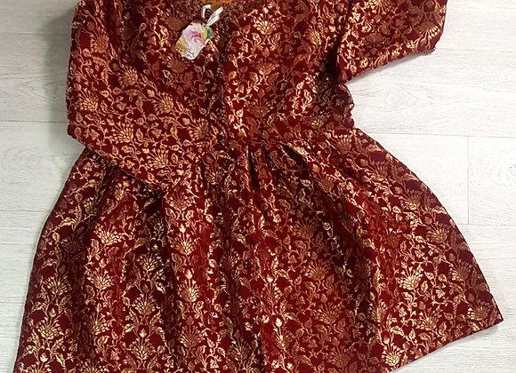 April Cornell Tudor style Wine jacket. Size Small