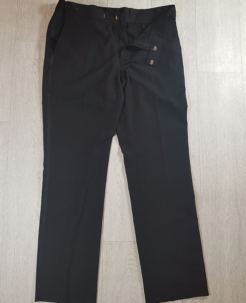 🔵Occassions Black smart men's trousers UK waist 34 in regular fit