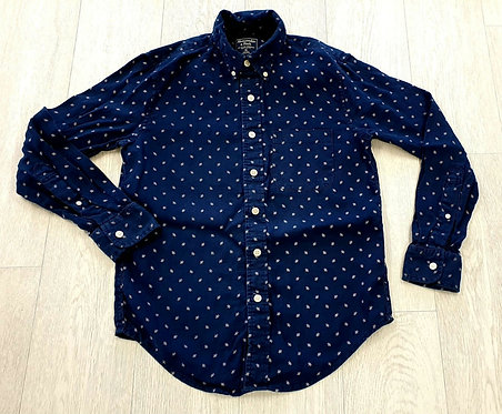 Abercrombie & Fitch navy linen shirt. Size XS