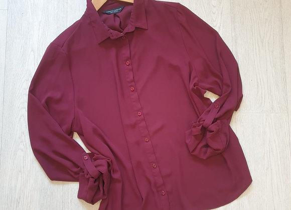 🏵Dorothy Perkins plum chiffon blouse. Size 16