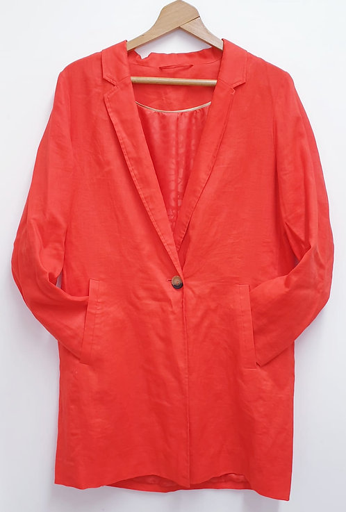 M&S bright orange jacket. Size 16