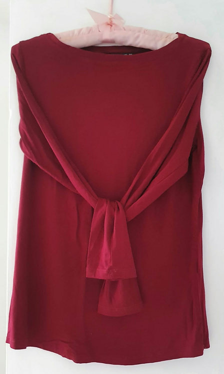 Dunnes cranberry long sleeve top. Size S