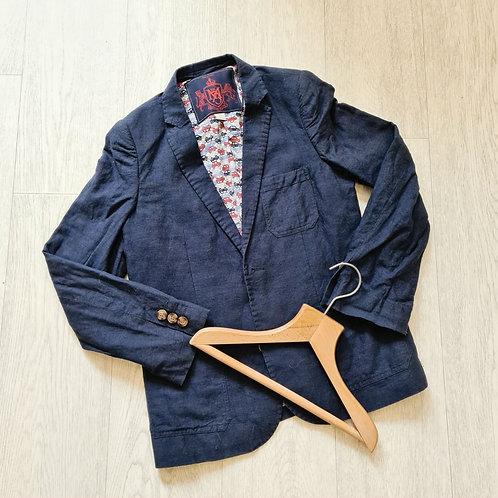 🔲Monsoon  navy linen blazer. 9-10yrs