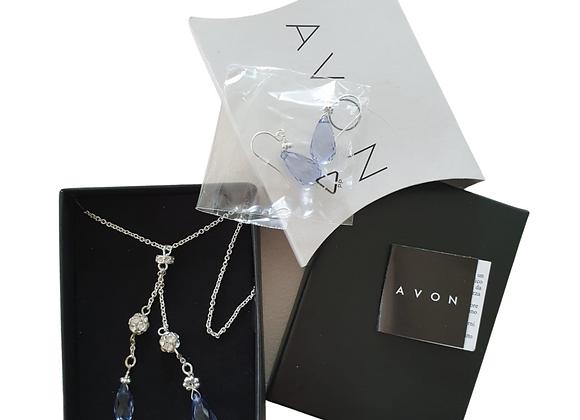 Avon Faceted teardrop tassel gift set NWOT