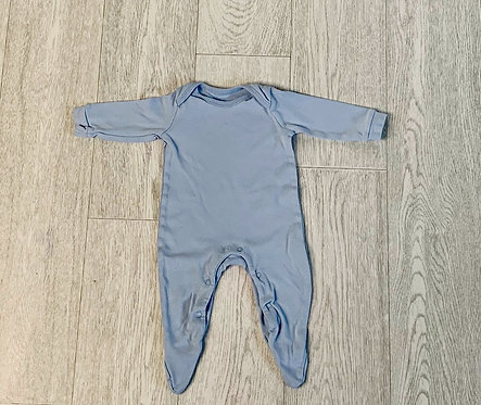 🌞George blue sleepsuit. 3-6m