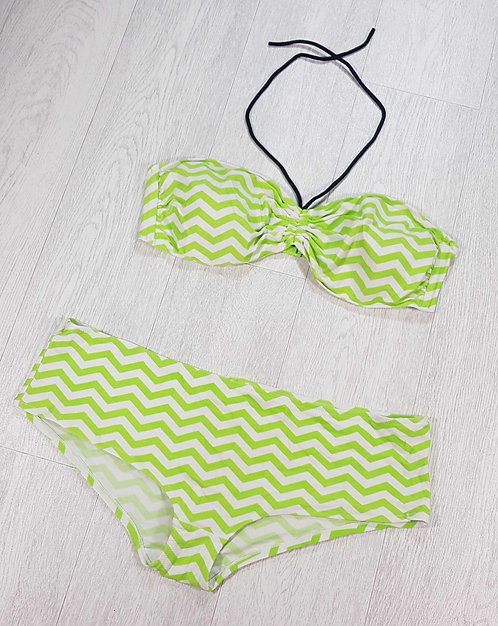 George green/white halter neck bikini. Size 20