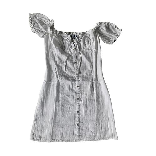 Bershka white bardot dress. Size XS