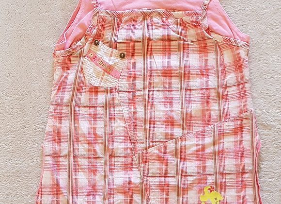 ALPHABET Pink summer top 100% cotton wash at 30° age 5  KEEP AWAY FROM FIRE