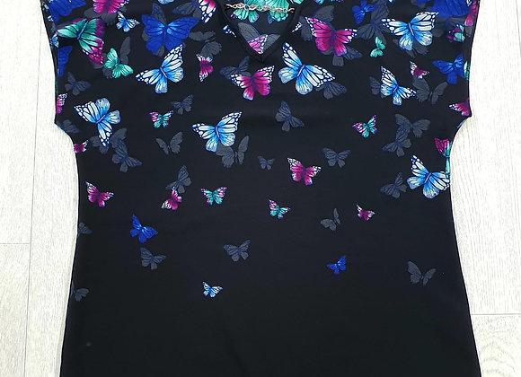 Black butterfly top. Uk 12
