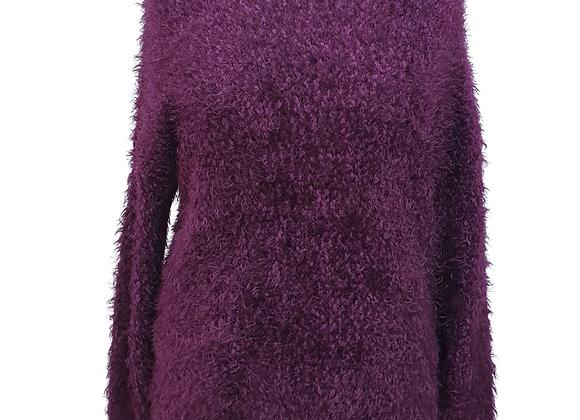 New Look Plum fluffy jumper. Size L
