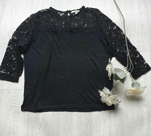 Sweewe black lace top. Size M