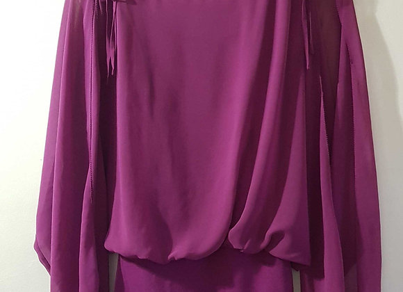 ◾Coast purple top with sliced arms. Size 8