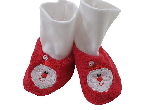 Towelling Santa booties