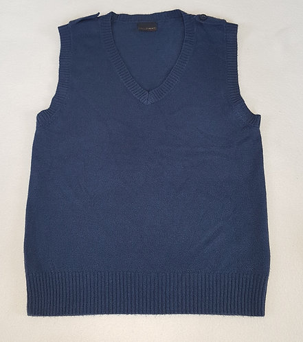 NEXT. Navy sweater vest. Size 7 years. Keep away from fire.