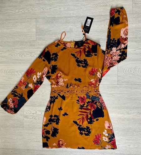 🌻AX Paris mustard floral dress. Size 8 NWT