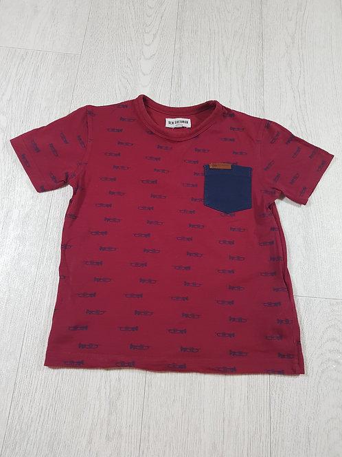 🌈Ben Sherman boys red trumpet t-shirt size 6-7 years