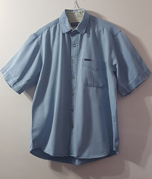 COTTON TRADERS Short sleeved denim style shirt. Size S