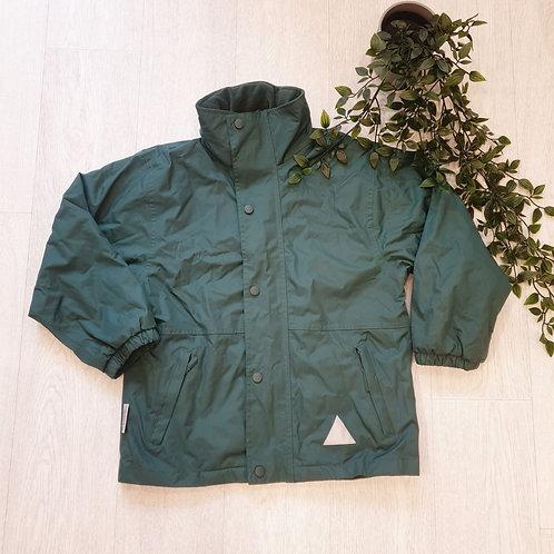 🍃Storm Stuff reflective green coat. Size M (9-10yrs)