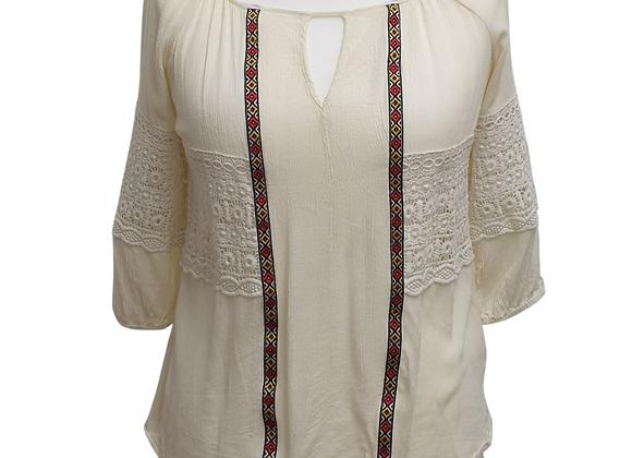 Apricot cream blouse. Size S