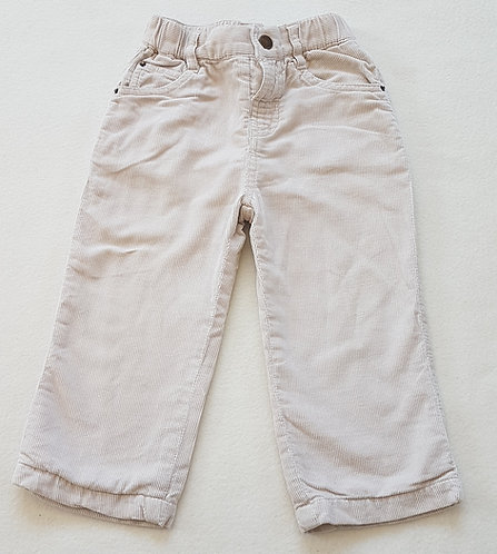 BABY. Cream trousers. Size 18-24 months. Keep away from fire.