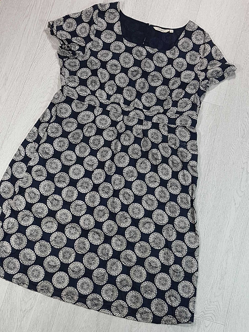 Adini navy summer dress  size L1