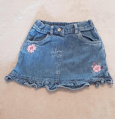 BABY MAC Denim skirt 100% cotton. 9-12m KEEP AWAY FROM FIRE