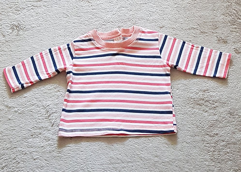 M&S. Striped top. Up to 3 months.
