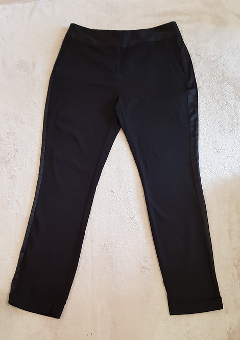 Marks and Spencer. Black straight leg trousers. Size 12, M.