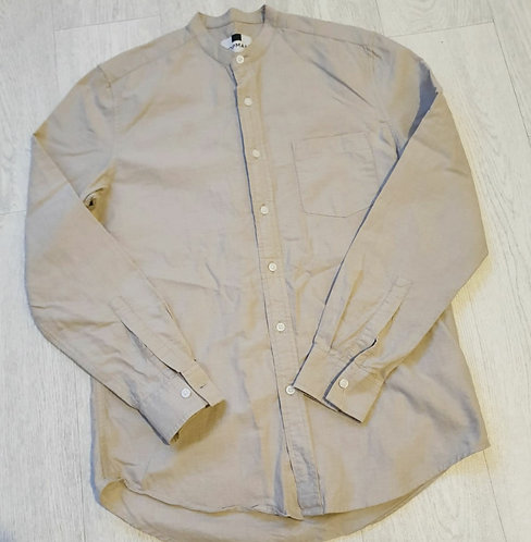🌕Top Man beige grandad shirt. Size S