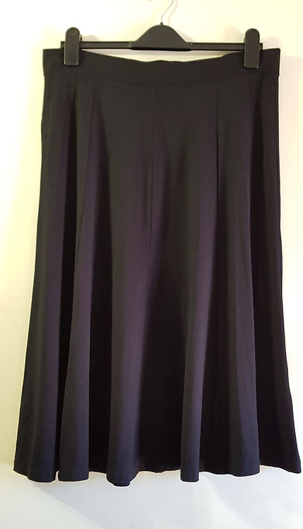 BHS. Black skirt with elasticated waist. Size 16.