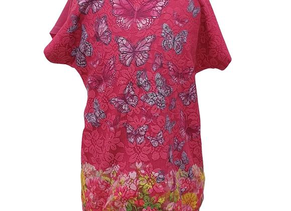 Bluezoo pink butterfly t-shirt. 7-8yrs
