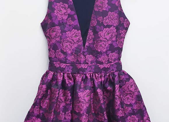 Anna Smith purple floral dress. Uk 8