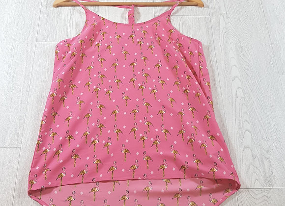 ✴Brave soul pink flamingo vest top size XS