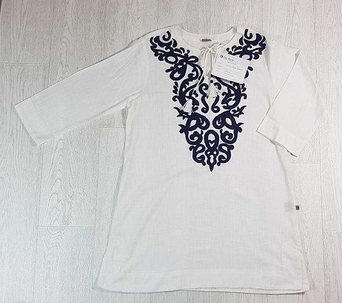 ◾The Shop White/navy embroidered Kurta